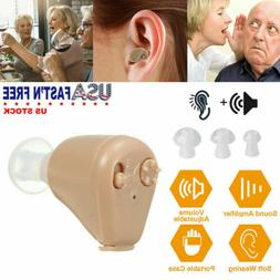 2 Pack Mini Hearing Aids In-Ear Rechargeable Adjustable Tone