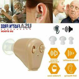 1 PCS Hearing Aids Mini In-Ear Rechargeable Adjustable Tone