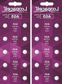 AG5 393 LR754 SR754 Alkaline Battery Button Cell