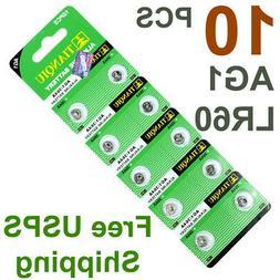 10 PCS LR60 AG1 364 LR621 1.5V Alkaline Battery for Watch /