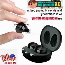 1Pair CIC Adjustable Invisible Hearing Aid MiNi Digital Soun