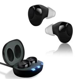 1Pair Rechargeable MIni Hearing Aids In the Ear Amplifier So