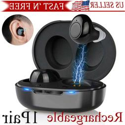 1pair digital rechargeable mini hearing aids in