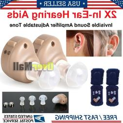 2/4 Small In Ear Invisible Best Sound Amplifier Adjustable T