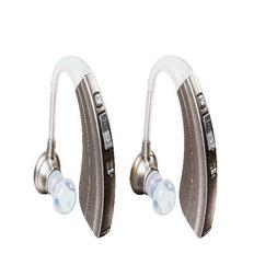 2-Pack Hearing Aid Amplifier Adjustable 500-Hour Battery Lif