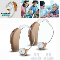 2 Pack Rechargeable Acousticon Behind Ear Hearing Aid/Aids S