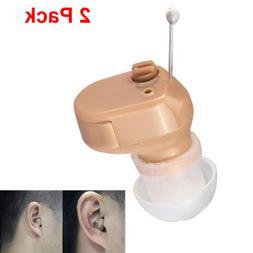 2 Set Hidden In Ear Mini Size Sound Amplifier Adjustable Ton
