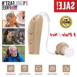 2PC Digital Ear Hearing Aid Rechargeable Noise Cancelling So