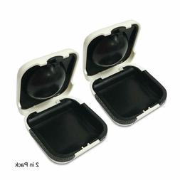 2PCS Hearing Aid Case Small - Portable Protective Storage BT