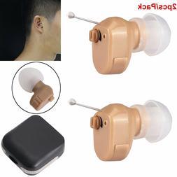 2pcs Mini Hearing Aids invisible CIC Digital Sound Amplifier