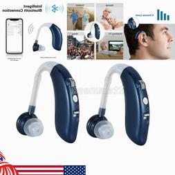2pcs US Digital Rechargeable Bluetooth BET Hearing Aid Ear S