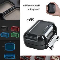 2Pcs Waterproof Hard Storage Box Holder Protect For Hearing