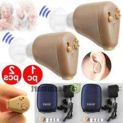 2x Hearing Aids Rechargeable Digital Sound Amplifier ITE Min