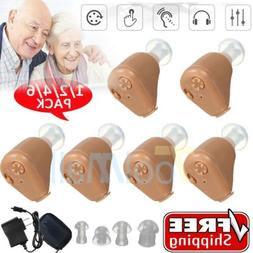 3-PAIRS Rechargeable Digital Mini In Ear Hearing Aid Adjusta