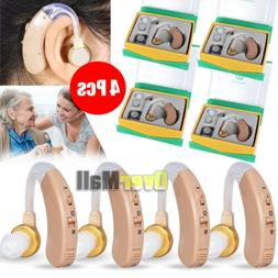 4 Pcs of Digital Hearing Aid Aids Kit Behind the Ear BTE Sou