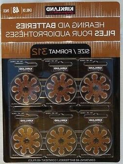48ct Kirkland Signature Hearing Aid Batteries #312 Zinc Air