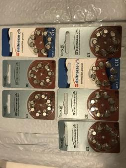 56 Hearing Aid Batteries~Assorted~Essentials~X-Cell~312-1.45