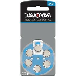 6 Rayovac Extra Advanced Size 675 Hearing Aid Batteries 1.45