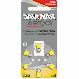 60 Rayovac Extra Advanced Mercury Free Hearing Aid Batteries