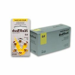 60 iCellTech Hearing Aid Batteries Size: 10