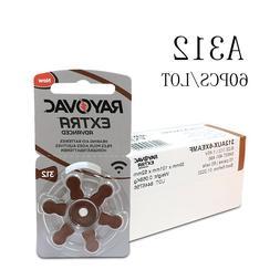 60 pcs Rayovac Extra Zinc Air <font><b>Hearing</b></font> <f