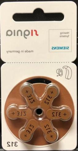 60 Signia Siemens Hearing Aid Batteries. Brown Size