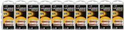 60 x Duracell Activair 312 Size Hearing aid batteries Zinc a