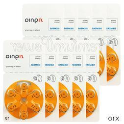 60 x Siemens Signia 13 Size Hearing aid batteries Zinc air 1