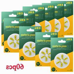 60pcs A10 Zinc Air Hearing Aid Battery 1.45V AC10 PR70 P10 Z