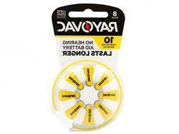 Rayovac 10-8 Size 10 75mAh1.45V Zinc Air Hearing Aid Batteri