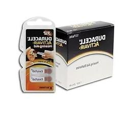 Duracell Activair Hearing Aid Batteries  Size 312 , Brown