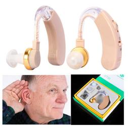 2PCS of Digital Hearing Aid Aids Kit Behind the Ear BTE Soun