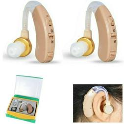 A Pair OF Digital Hearing Aid Aids Kit Behind the Ear BTE So