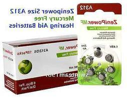 A312 Zinc Air Hearing Aid Batteries - 60 Batteries