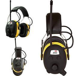 Digital AM FM MP3 Radio Headphones Hearing Protection Ear Mu