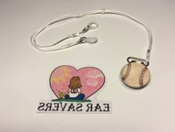 Bilateral Baseball Lanyard Clip for Hearing Aids or Cochlear