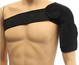Black Shoulder Brace Support Strap Wrap Belt Dislocation Inj