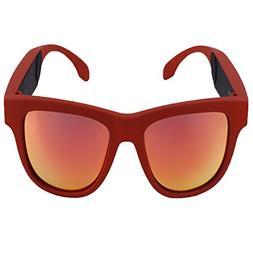 Bone Conduction Headphones Sunglasses Bluetooth Glasses-Wire