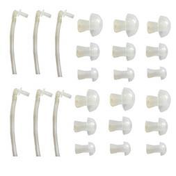 BTE Hearing Aids Accessories 6Tubes 18pcs Ear Plug Siemens R