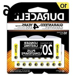 Duracell DA10B16ZM10 Button Cell Hearing Aid Battery, 10, 16