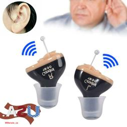 CIC Hearing Aid Aids Mini Small Invisible Sound Voice Enhanc
