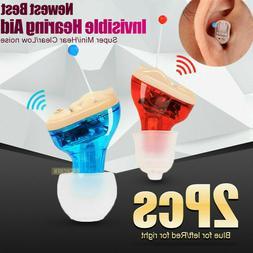 1Pair CIC Hearing Aid invisible Mini Sound Voice Enhancer Am