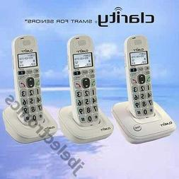 CLARITY D712 DECT 6.0 - 3 AMPLIFIED LOUD CORDLESS PHONES W/A