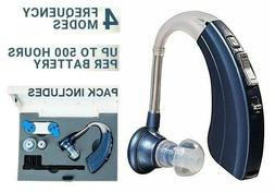 Digital Hearing Aid Amplifier with 2 Batteries - 500Hr Batte
