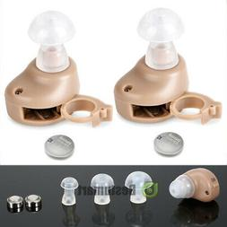 2x Small In The Ear Invisible Best Sound Amplifier Adjustabl