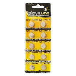 10pk Exell EB-L1154 Alkaline 1.5V Watch Battery Replaces AG1