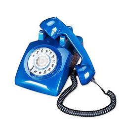 Telephone European antique retro fixed home office black met