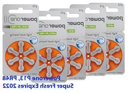 60x Genuine PowerOne Hearing Aid Batteries PR48, p13, Size 1