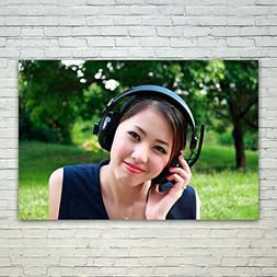 Westlake Art Girl Grass - 12x18 Poster Print Wall Art - Mode