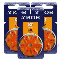 SONY Hearing aid 13 Size batteries Zinc Air PR48 1.4V Mercur